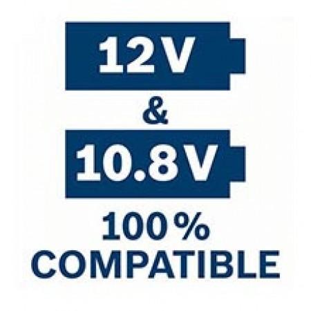 BOSCH trece de la 10,8 V la 12 V