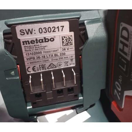 METABO - первая в мире 230-мм аккумуляторная УШМ
