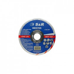 S&R Meister A36SBF (metal/inox) 125*1.6