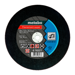 Metabo FLEXIAMANT SUPER 350*3,0*25,4, STEEL, TF 41